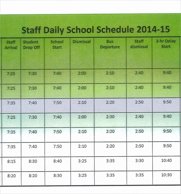 Daycare Staff Schedule Template Best Of Collection Daycare Employee Work Schedule Template S