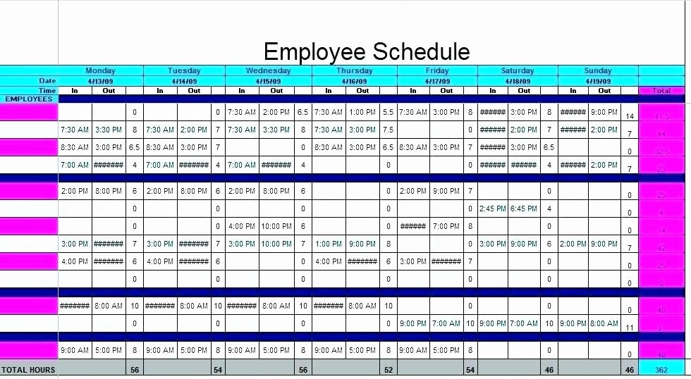 Daycare Staff Schedule Template Best Of Daycare Staff Schedule Template Size Emergent
