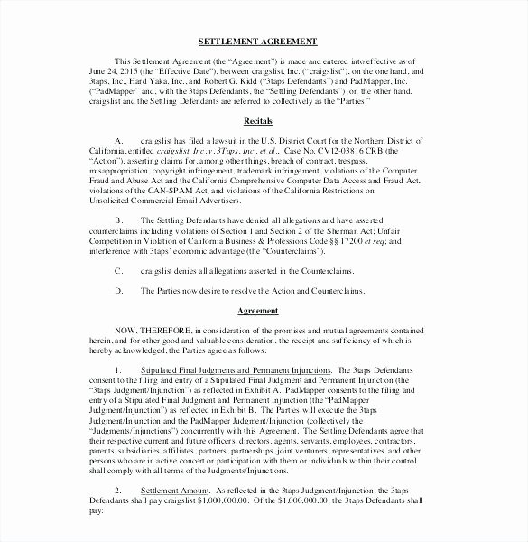 Debt Settlement Agreement Template Beautiful Debt Settlement Contract 3 Debt Settlement Contract