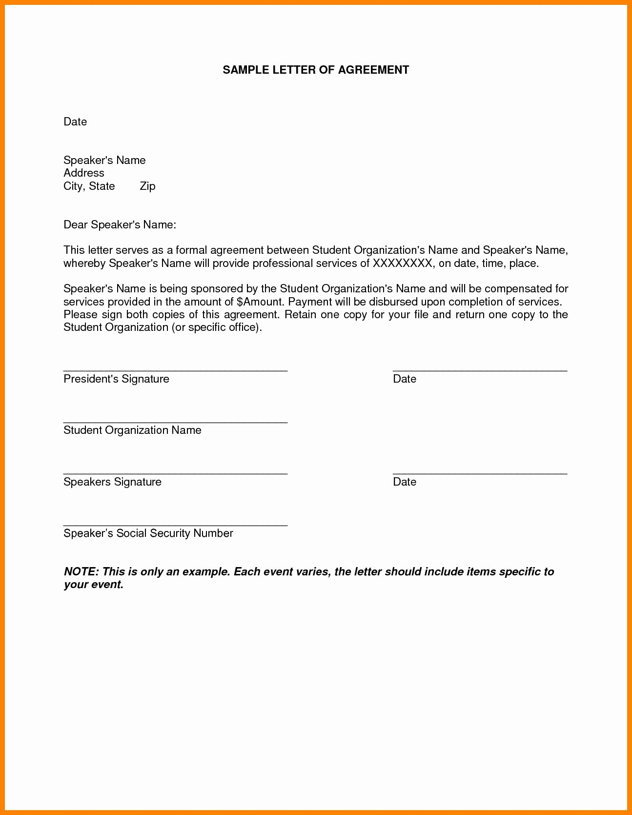 Debt Settlement Agreement Template Lovely Debt Settlement Agreement Letter Template Samples