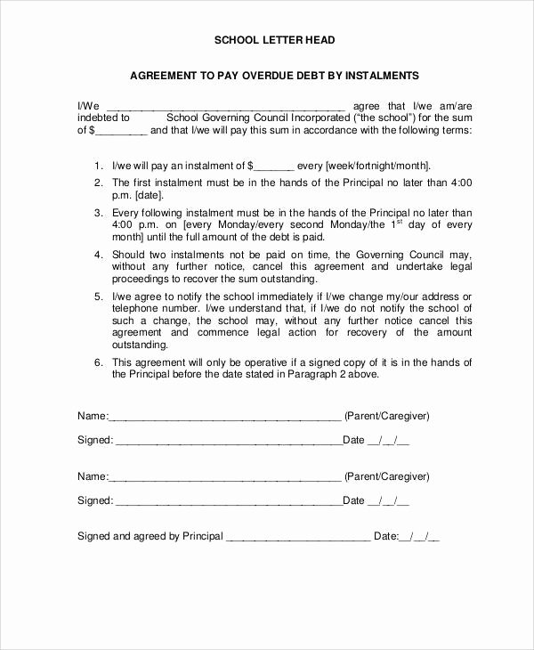 Debt Settlement Agreement Template New 36 Agreement Letter Examples