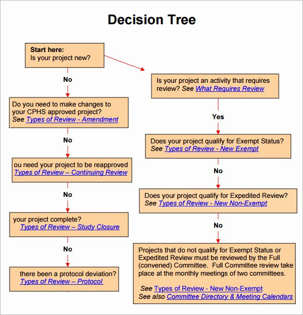 Decision Tree Template Word New Decision Tree 7 Free Pdf Download