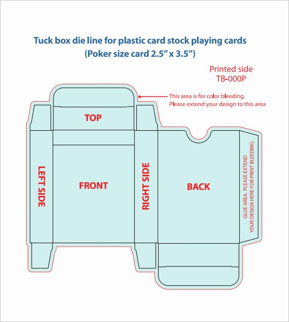 Deck Of Cards Template Elegant 20 Playing Card Box Templates Free Sample Example