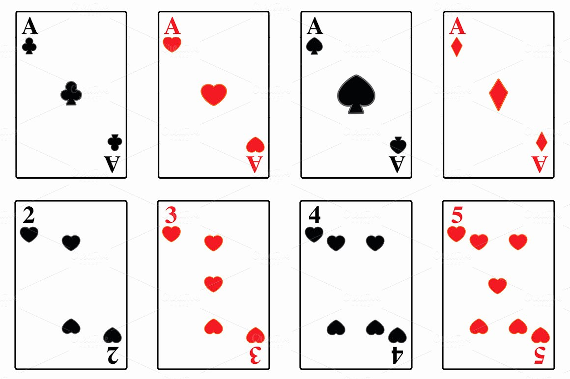 Deck Of Cards Template Elegant Best S Of Playing Card Template Playing Card Deck