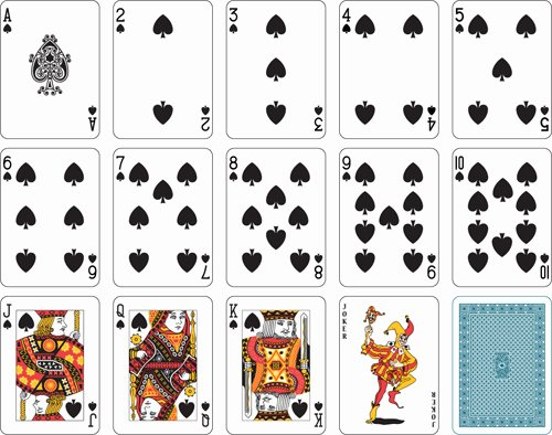 Deck Of Cards Template Inspirational Different Playing Card Vector Graphic 05 Free