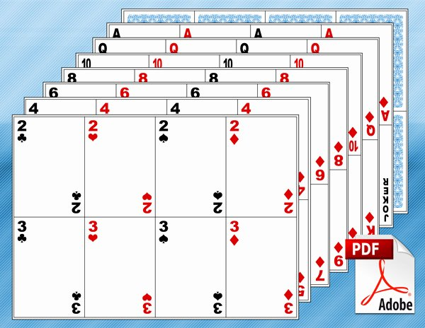 Deck Of Cards Template Unique Blank Playing Card Template