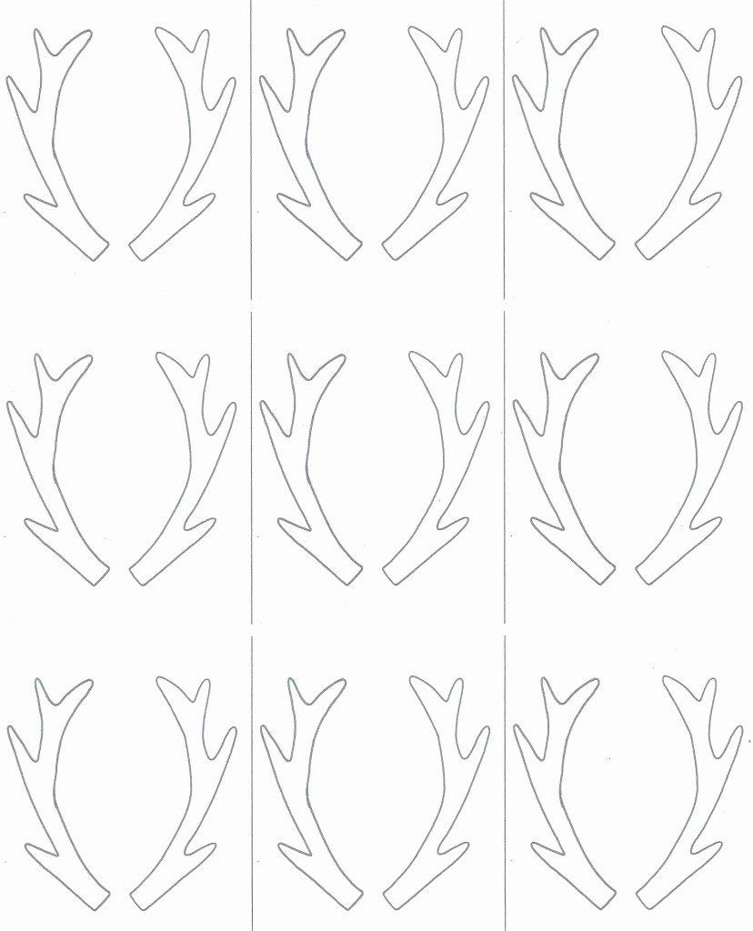 Deer Antler Printable Template Beautiful Free Coloring Pages Of Antlers Template