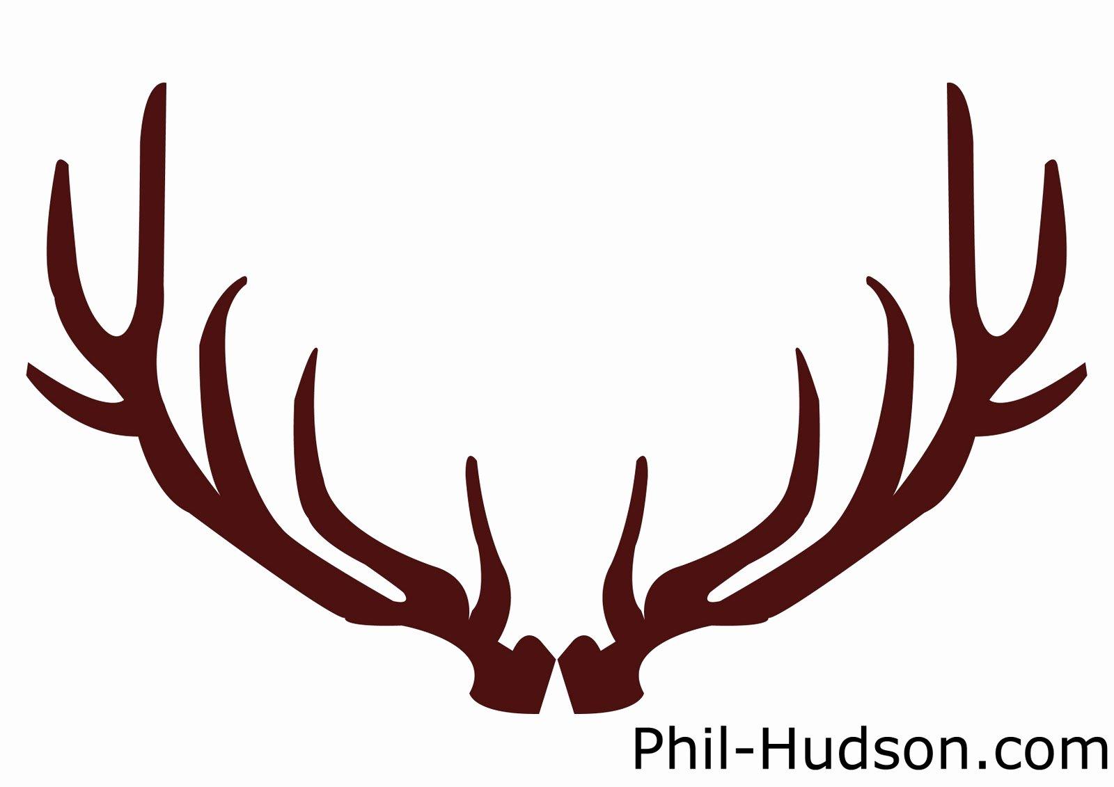 Deer Antler Printable Template Best Of Reindeer Antlers Free Clipart