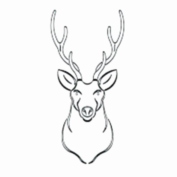 Deer Antler Printable Template Best Of Template Deer Antler Template