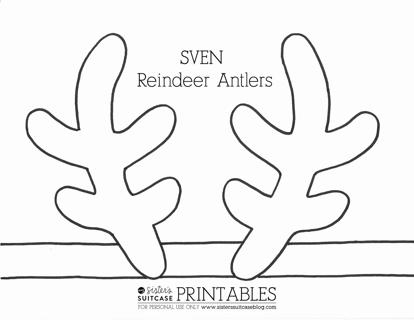 Deer Antler Printable Template Fresh Frozen Elsa Crown Template & Sven Antler Template