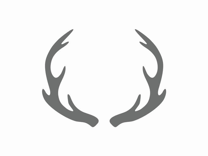 Deer Antler Printable Template Lovely Antler Craft Shape Antlers Wood Shape