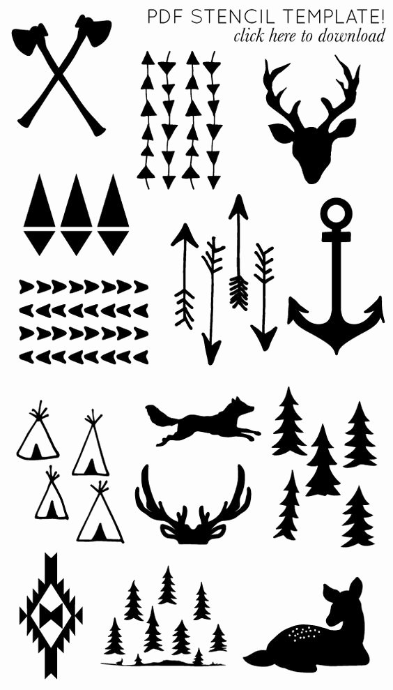Deer Antler Printable Template Lovely Printable Arrow and Antler Templates Diy