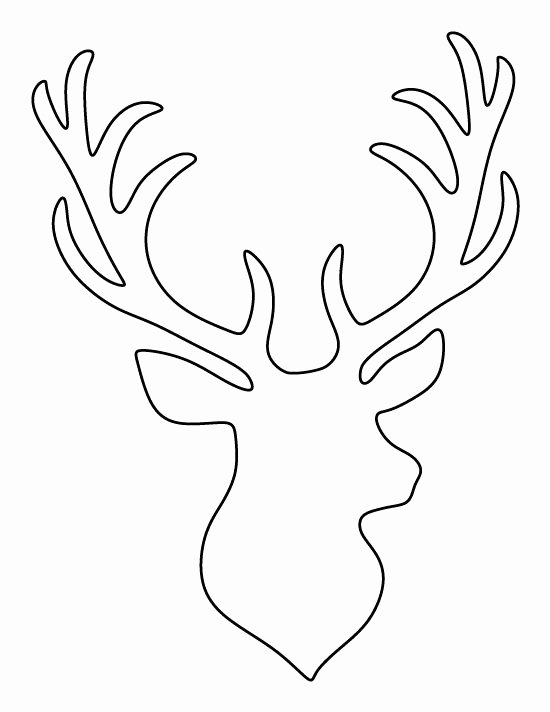 Deer Antler Printable Template Lovely Stag Head Pattern Use the Printable Outline for Crafts