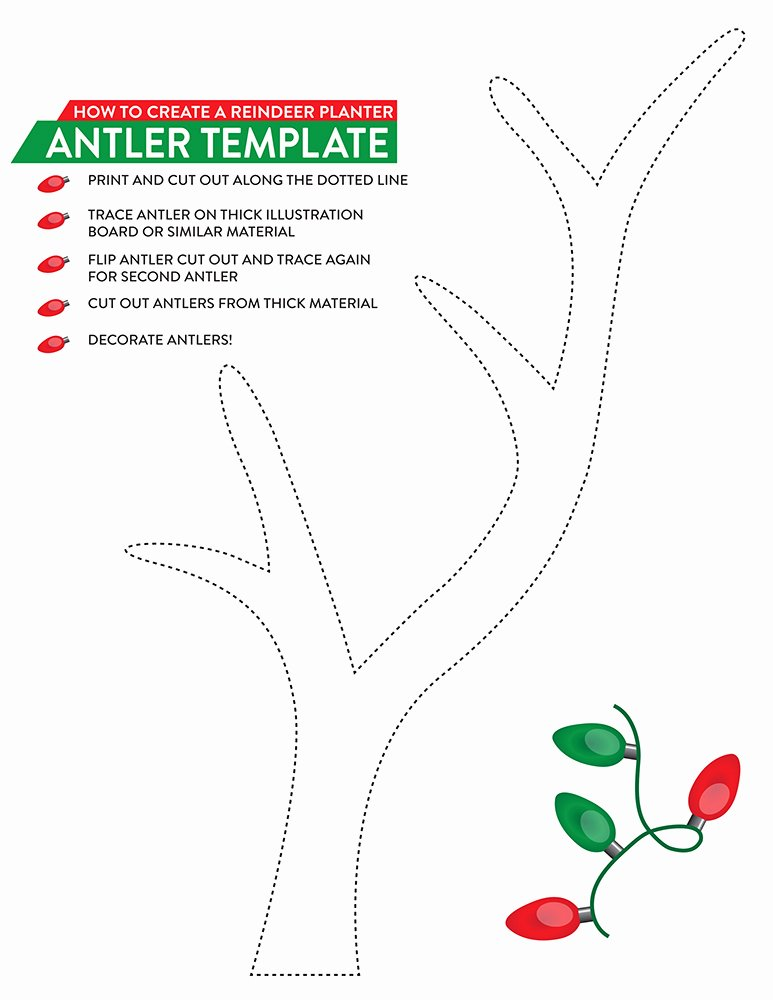 Deer Antler Printable Template Luxury A Holiday Gift for the Gardener