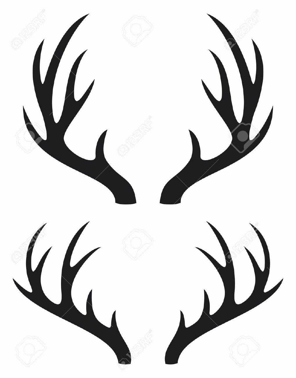 Deer Antler Printable Template Luxury Deer Antler Clipart Clipground