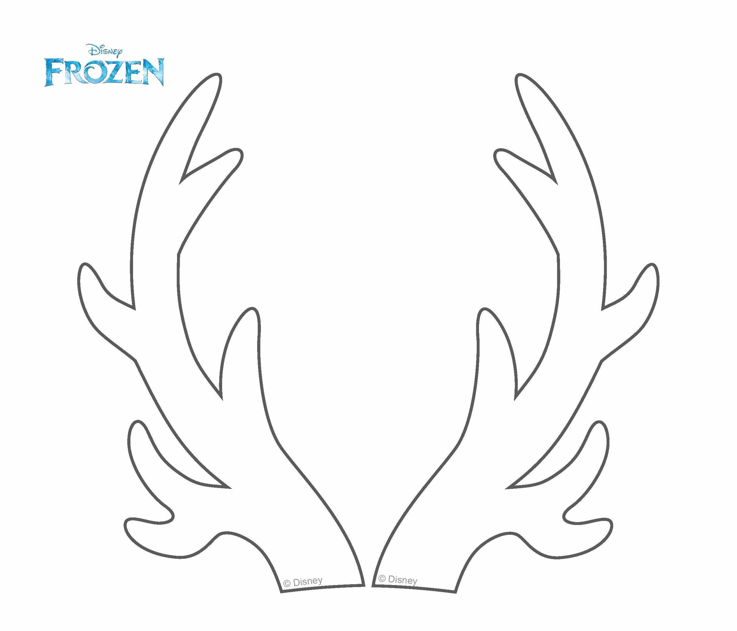 Deer Antler Printable Template New Antler Coloring Page Coloring Coloring Pages