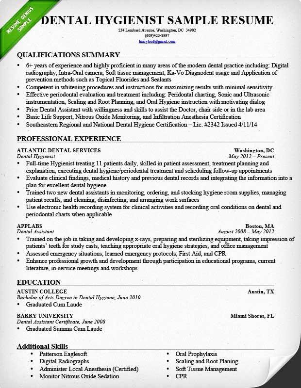 Dental assistant Resume Template Elegant Dental assistant Resume Sample & Tips