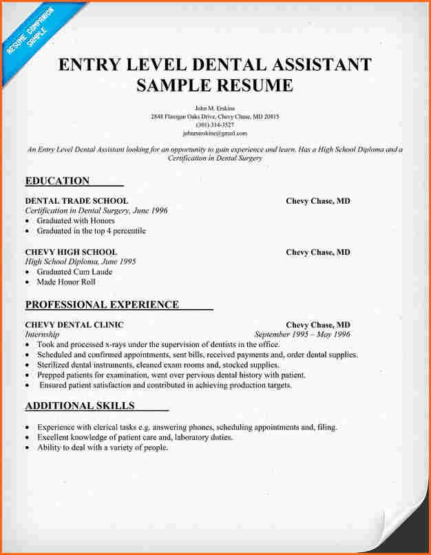 Dental assistant Resume Template New 7 Dental assistant Qualifications Resume Bud