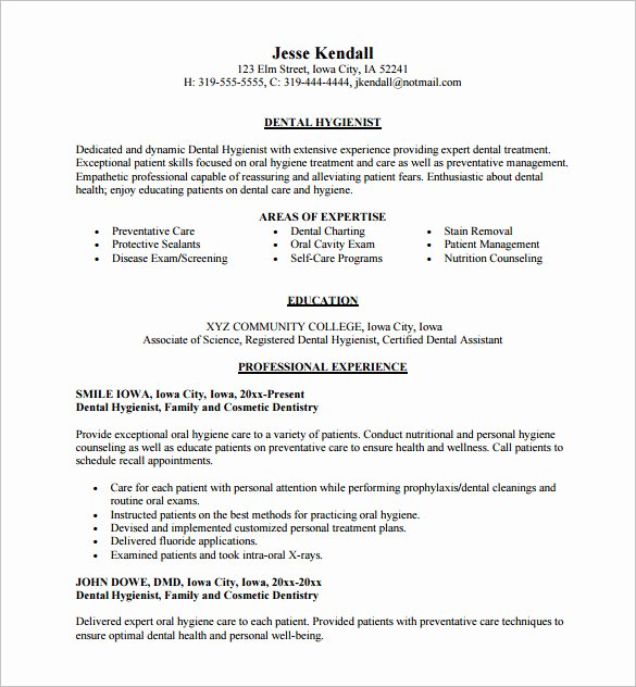 Dental assistant Resumes Template Beautiful Dental assistant Resume Template 7 Free Word Excel