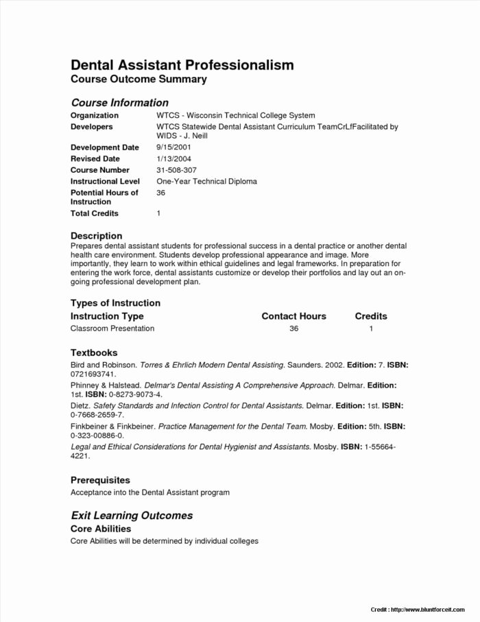 Dental assistant Resumes Template Inspirational Dental Fice Procedure Manual Sample Templates Resume
