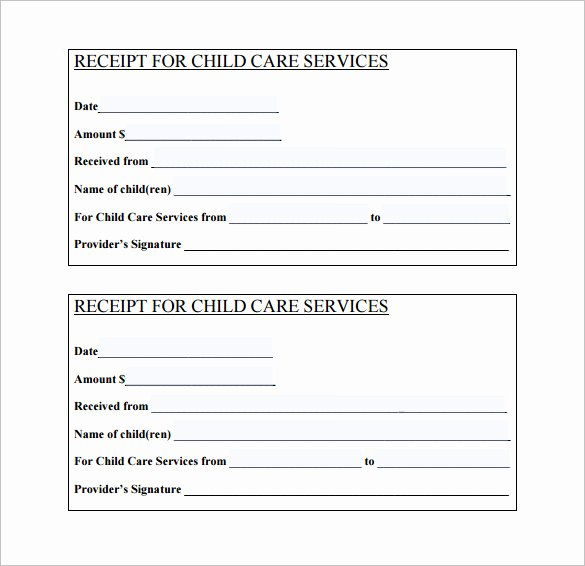 Dependent Care Receipt Template Awesome 24 Daycare Receipt Templates Pdf Doc