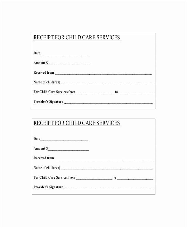 Dependent Care Receipt Template Best Of 15 Receipt Templates