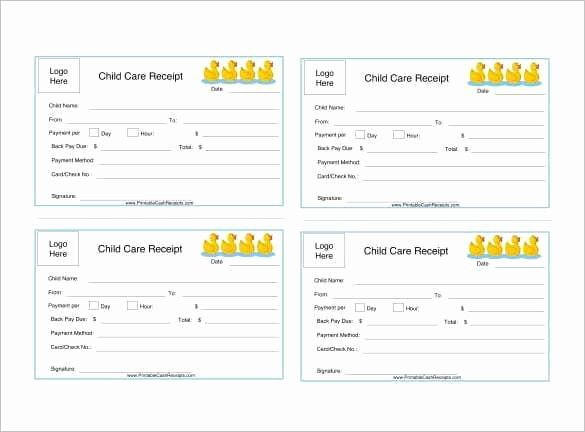 Dependent Care Receipt Template Elegant 4 Dependent Care Receipt Templates Word Excel Templates