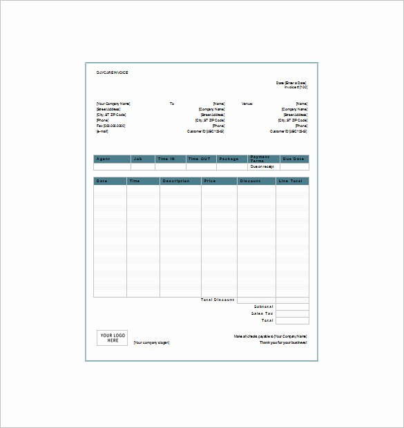 Dependent Care Receipt Template Luxury 28 Of Fsa Receipt Nanny Template for