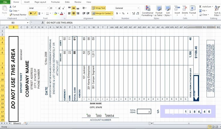Deposit Slip Template Excel Beautiful Bank Deposit Slip Template Excel