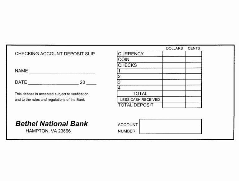 Deposit Slip Template Excel Fresh 12 Free Printable Deposit Slip Template Rruur