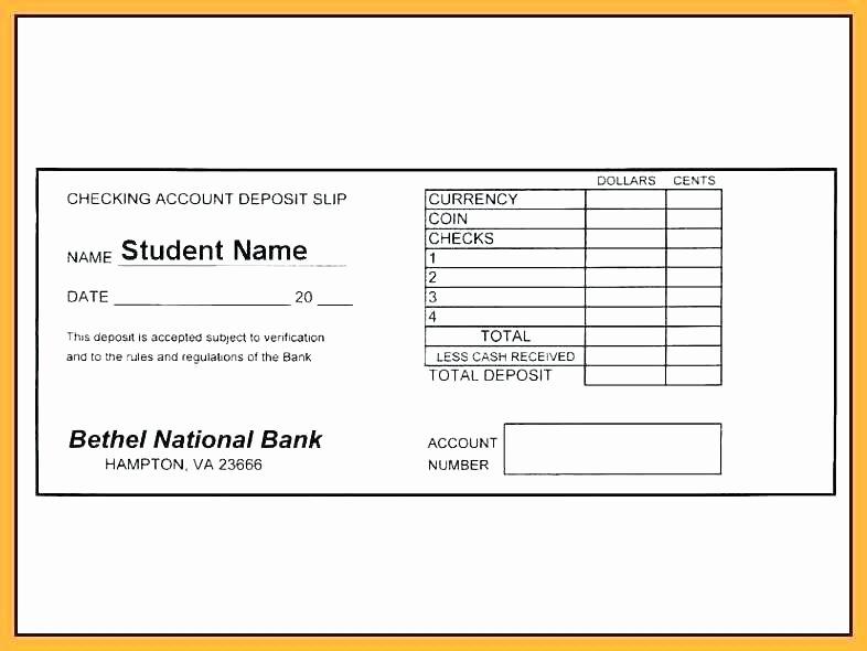 Deposit Slip Template Excel Lovely Printable Deposit Slip Template Make Your Own Slips Bank