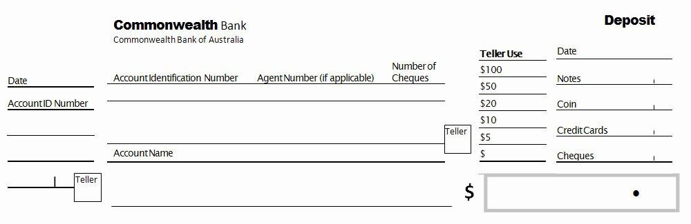 Deposit Slip Template Excel New 5 Bank Deposit Slip Templates Excel Xlts