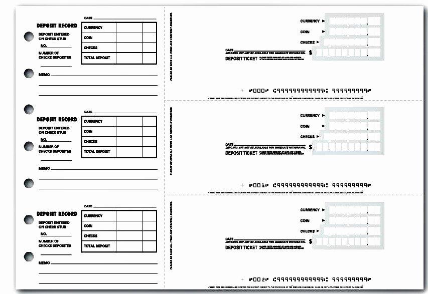 Deposit Slip Template Word Elegant 4 Printable Bank Deposit Slip Template Excel – Template124