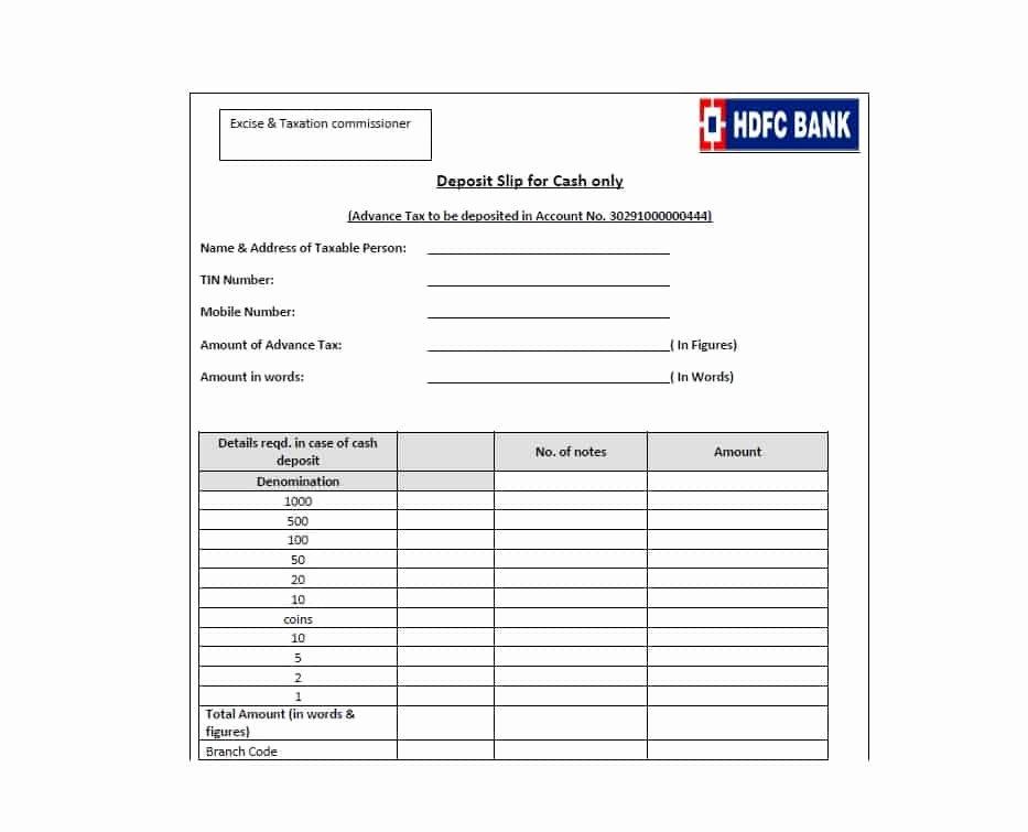 Deposit Slip Template Word Lovely 37 Bank Deposit Slip Templates & Examples Template Lab