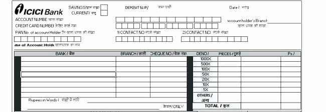 Deposit Slip Template Word New Free Deposit Slip Template Word Receipt Template C Return