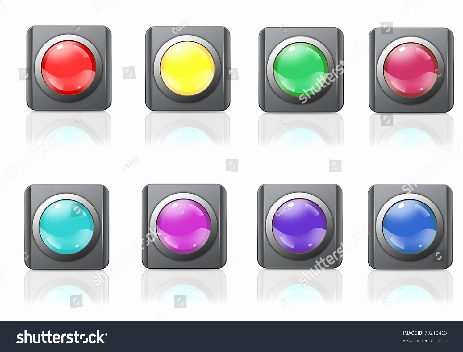 Design A button Template Fresh Logo Icon button Blanks Blank Templates Stock Illustration