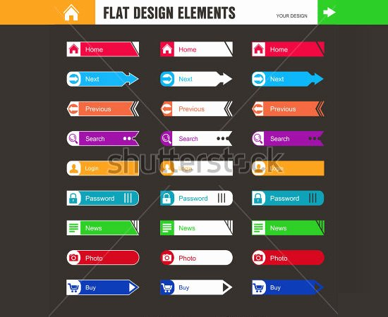 Design A button Template Unique 60 Ui button Designs Elements & Kits Collection Free