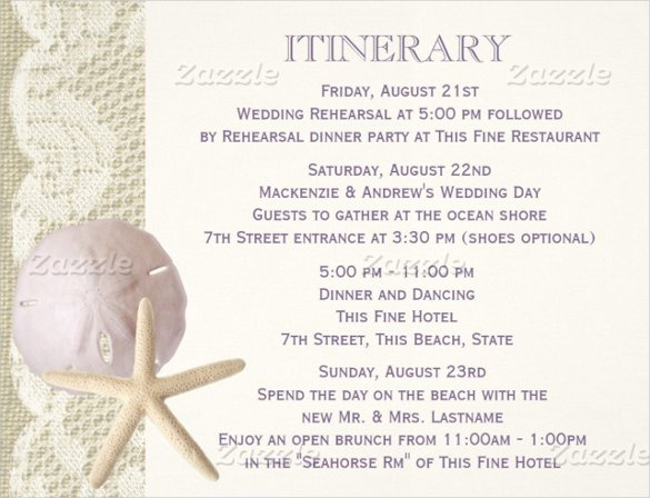 Destination Wedding Itinerary Template Awesome 44 Wedding Itinerary Templates Doc Pdf Psd