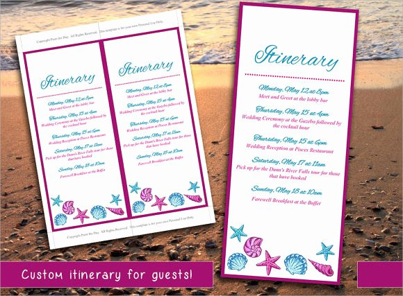 Destination Wedding Itinerary Template Best Of 9 Wedding Itinerary Samples