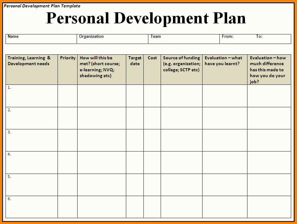 Development Plan Template Word Beautiful 6 Development Plan Template Word