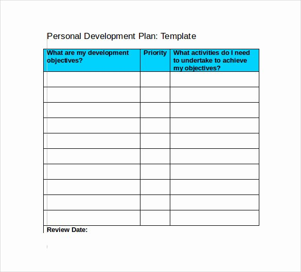 Development Plan Template Word Fresh 9 Development Plan Templates to Free Download