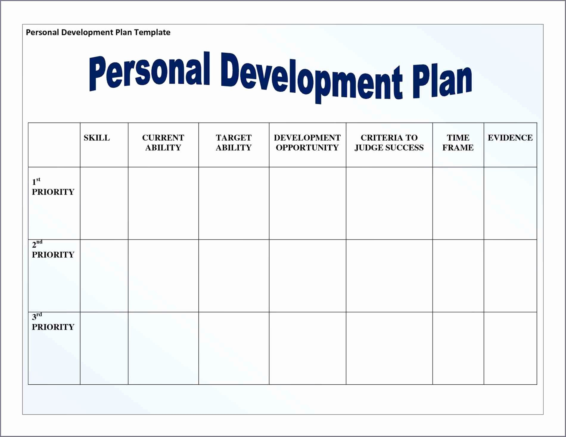 Development Plan Template Word Fresh Personal Development Plan Template Word