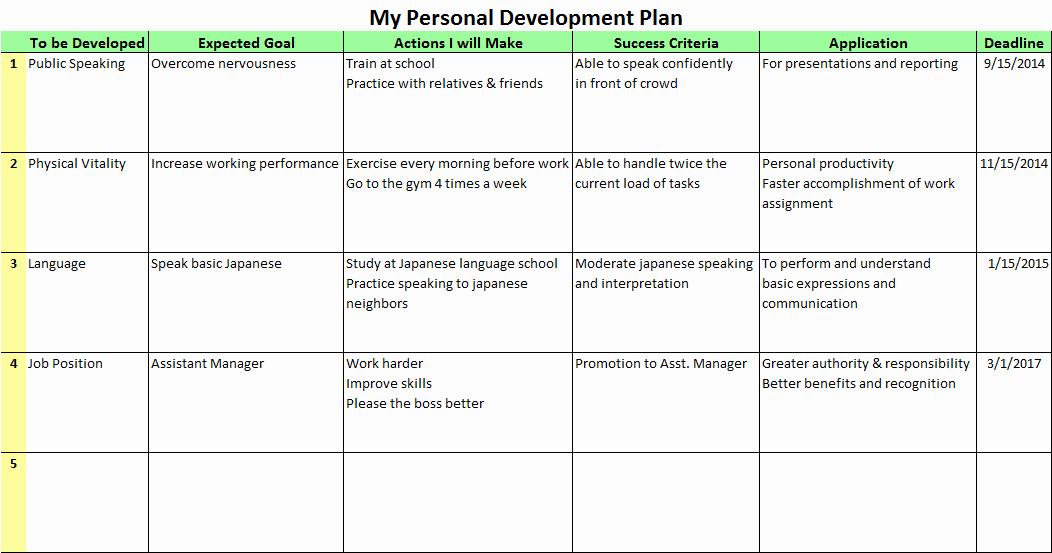 Development Plan Template Word Inspirational Development Plan Template