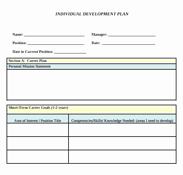 Development Plan Template Word Lovely Personal Development Plan Template Word Career for