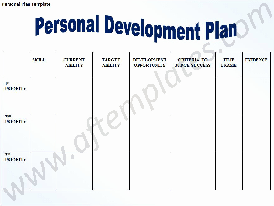 Development Plan Template Word New Personal Development Plan Template