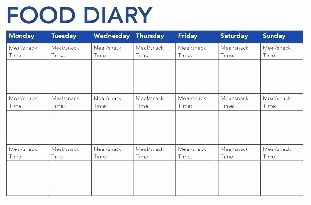 Diabetic Food Journal Template New Diabetic Food Diary Template – Meicys