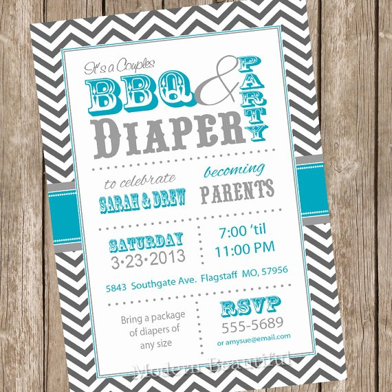 Diaper Party Invitation Template Elegant 7 Best Of Diaper Shower Invitations Printable