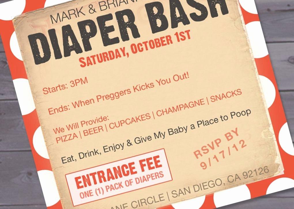 Diaper Party Invitation Template Elegant Free Diaper Party Invitations