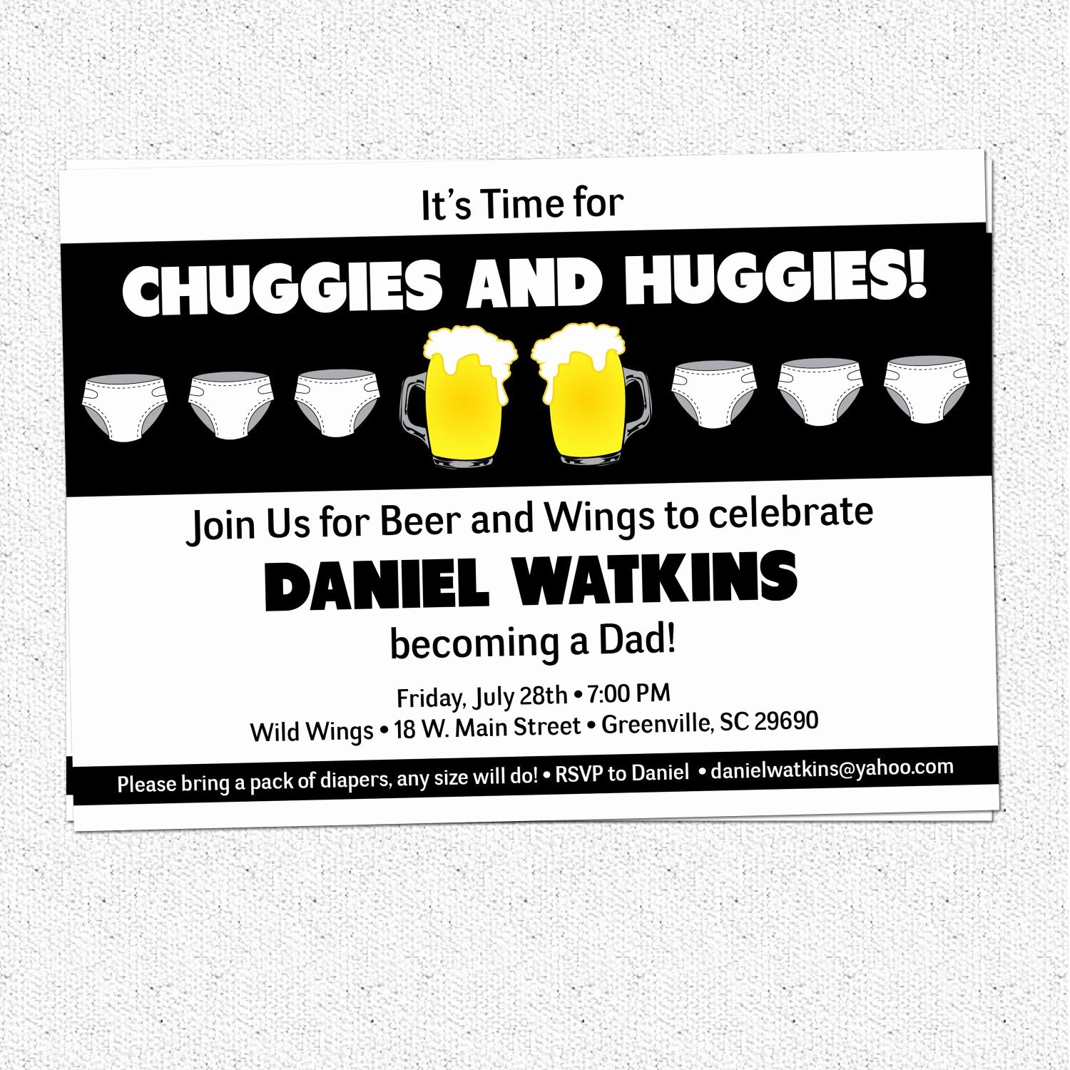 Diaper Party Invitation Template Lovely Chuggies and Huggies Beer and Diaper Party Invitation