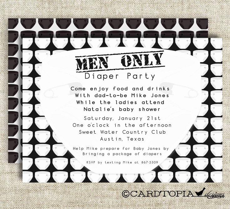 Diaper Party Invitation Template Luxury Diaper Party Men Ly Baby Shower Invitations Chuggies